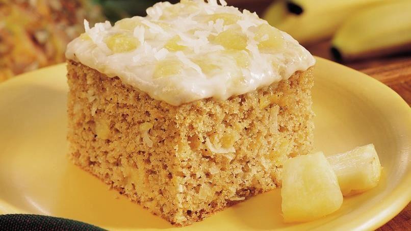 Pineapple-Banana Coffee Cake
