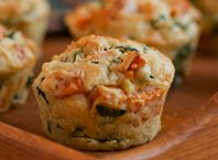 Sweet Potato, Kale and Feta Muffins