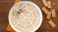Spider Web Pumpkin Cheesecake Yogurt Dip
