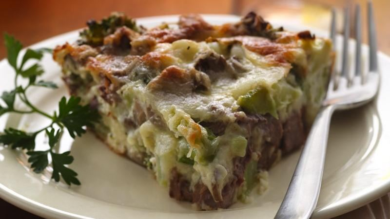 Impossibly Easy Beef Broccoli And Mushroom Pie Recipe