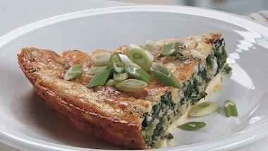 Impossibly Easy Spinach Parmesan Pie