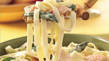 Smoked Salmon and Asparagus Primavera Pasta