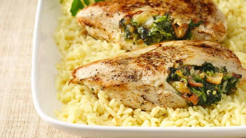 Spinach-Stuffed Chicken Breasts