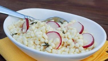 Fresh Corn and Radish Salad