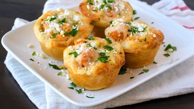 Buffalo Chicken Mini Pot Pies