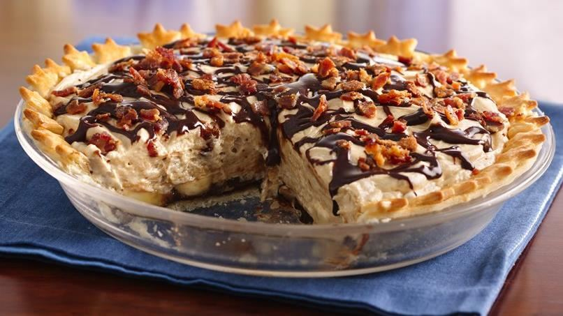 Chocolate-Peanut Butter Pie with Bacon