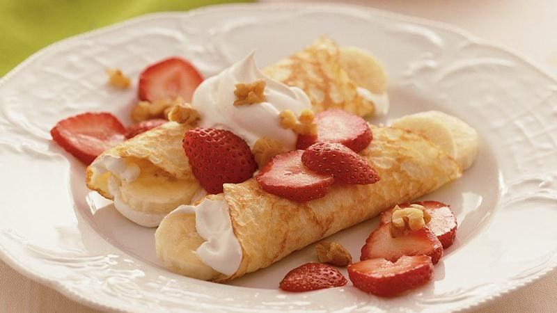 Strawberry-Banana Crepes