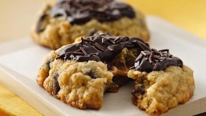 Chocolate-Caramel Filled Cookies
