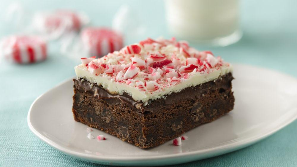 Chocolate Lover's Peppermint Bark Squares