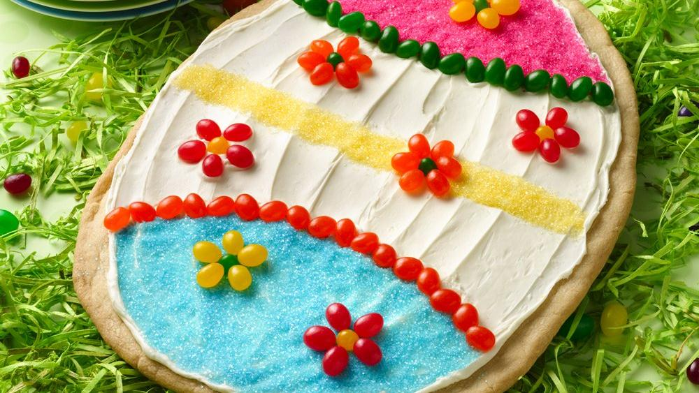 Easter Egg Cookie Pizza