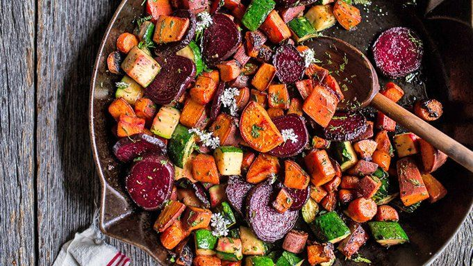 apple and root vegetable hash stock photo thinkstock apple and root ...