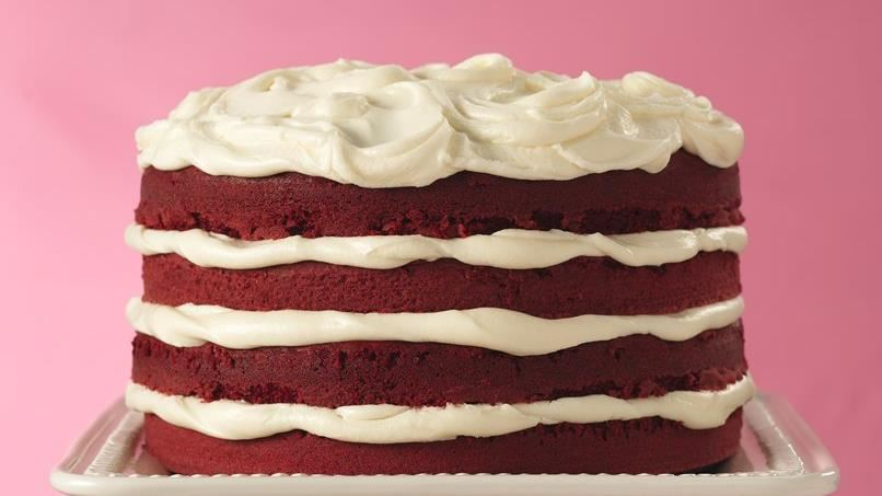 Red Velvet Torte with White Truffle Frosting