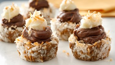 Macaroon-Peanut Butter-Chocolate Tartlets