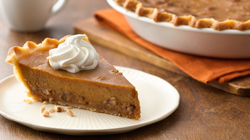 Gluten-Free Toffee Pecan Pumpkin Pie