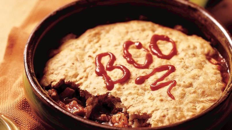 Halloween Fajita Pot Pie