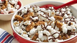 S'mores Popcorn Snack Mix