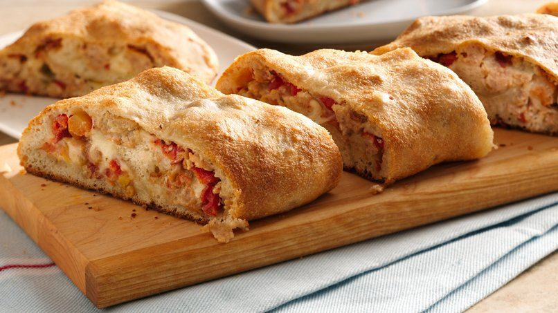 Spicy Chicken Pizza Roll Up