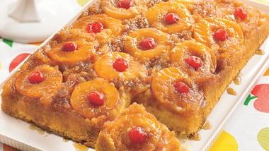 Peachy Pineapple Upside-Down Cake