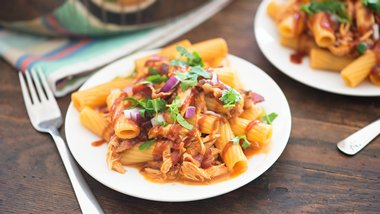 One-Pot Cheesy Barbecue Chicken Rigatoni