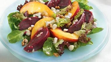 Roasted Beets and Nectarine Salad