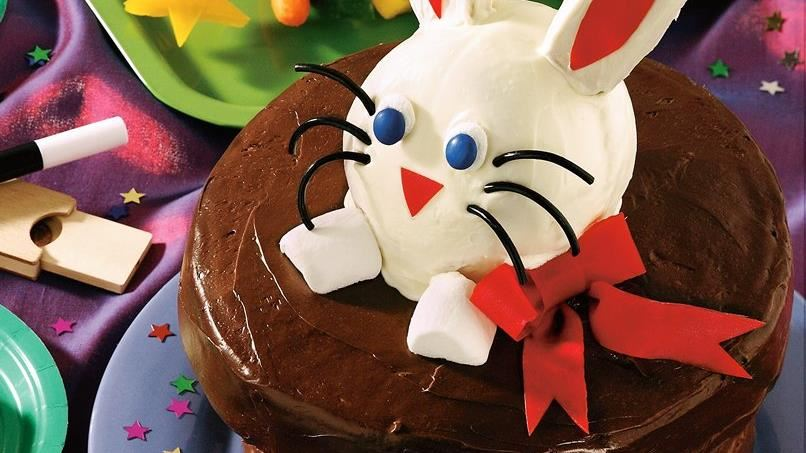Magic Bunny-in-a-Hat Cake