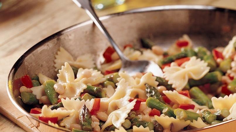 Lemon Pepper Pasta and Asparagus