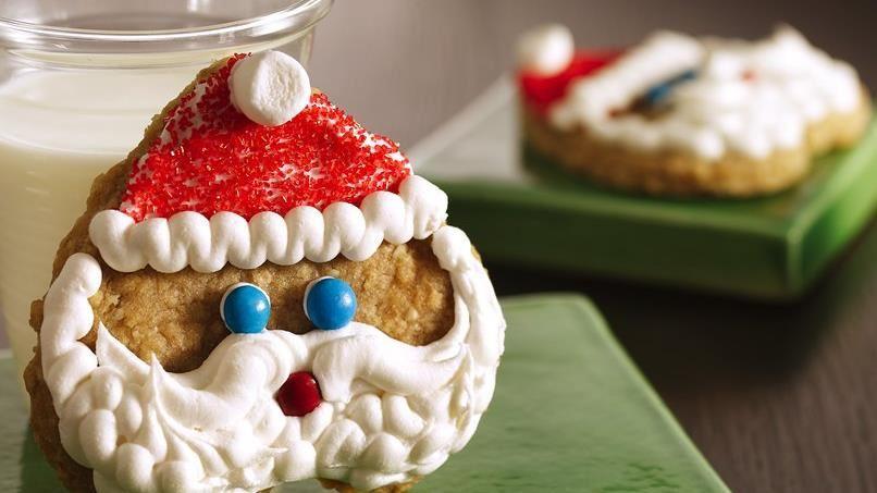 Santa Face Shortbread Cookies