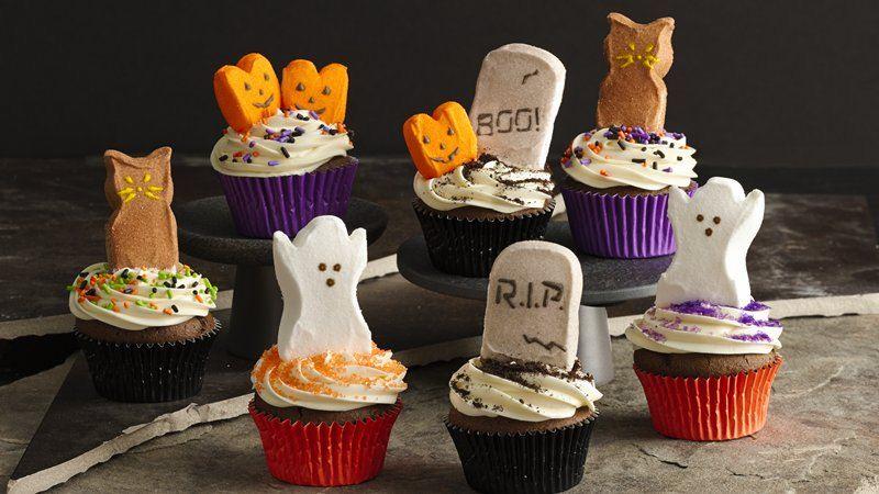 Peeps 174 Halloween Party Cupcakes Recipe From Betty Crocker