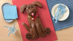 Chocolate Lab Dog Cake