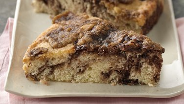 Brown Sugar Topped Chocolate Swirl Coffee Cake