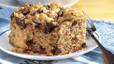 Chocolate Streusel Banana-Carrot Cake