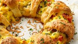 Rosca de tocino, huevo y queso para el brunch de Pascua