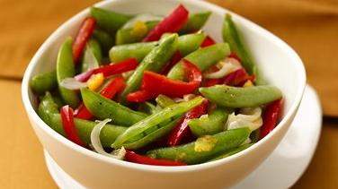 Sautéed Sugar Snap Peas, Peppers and Onions