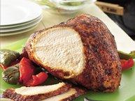 Grilled Turkey Breast with Chili Cumin Rub