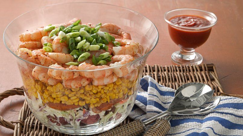 Layered Shrimp Boil Salad