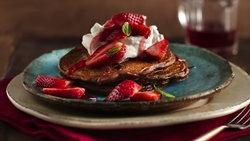 Double-Chocolate Strawberry Pancakes