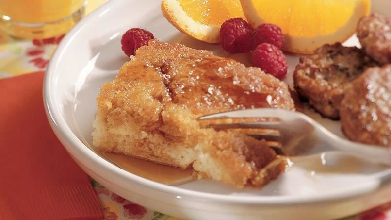 Maple-Topped Oven Pancake