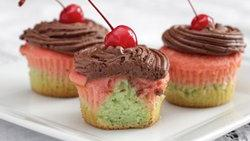 Italian Spumoni Cupcakes