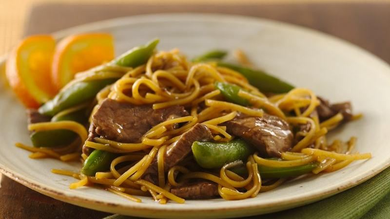 Orange Teriyaki Beef with Noodles