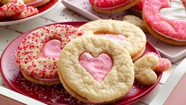 Valentine Heart Sandwich Cookies