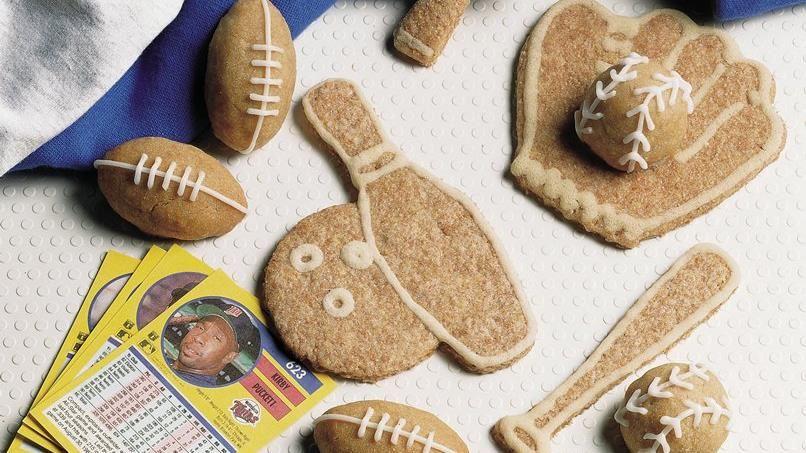 Cinnamon Football Cookies