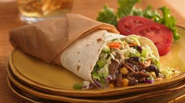 Black Bean and Corn Barbecue Wraps