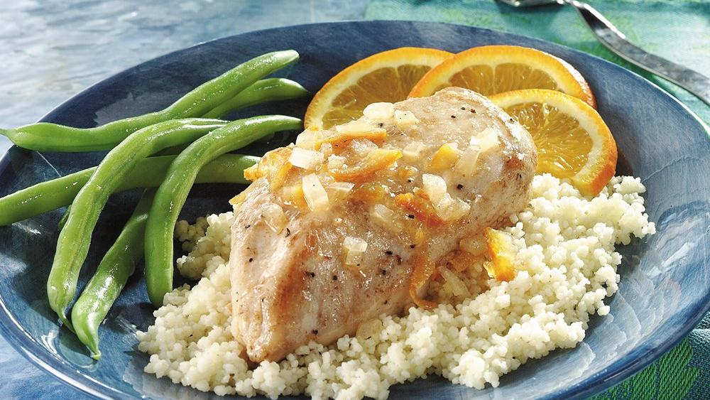 Orange Chicken with Couscous