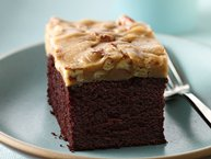 Gluten-Free Chocolate Cake with Praline Topping