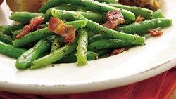 Bacon-Topped Green Beans