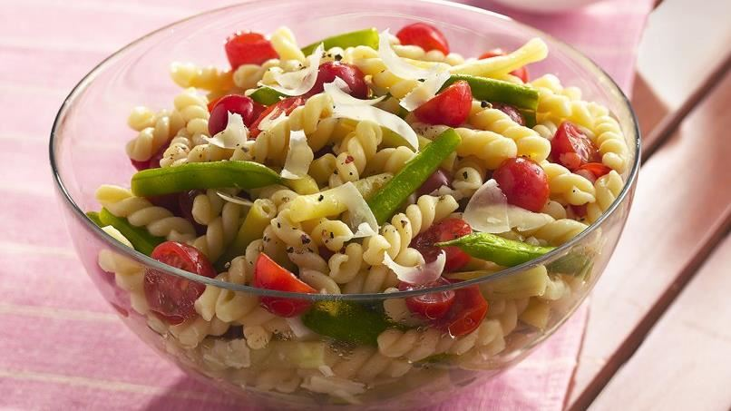 Gemelli with Fresh Green and Yellow Beans