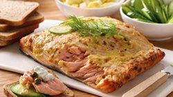 Grilled Planked Salmon Platter