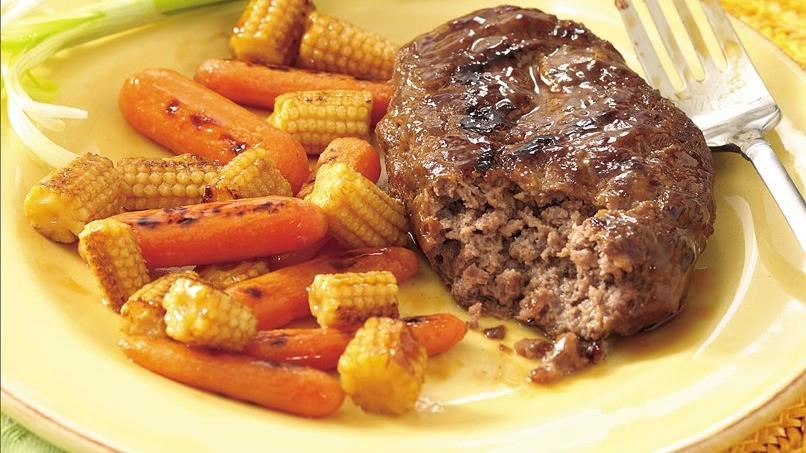 Grilled Teriyaki  Meatloaf and Vegetable Packets