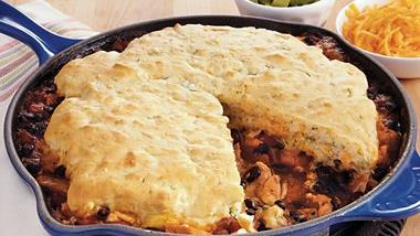 Spicy Tex Mex Chicken Cobbler