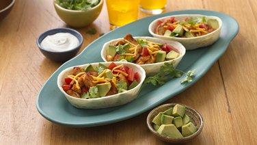 Chicken and Avocado Ten Minute Taco Boats